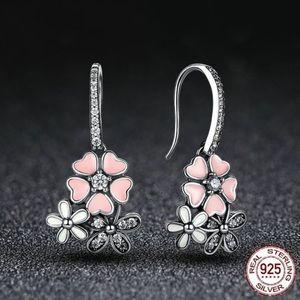 Super cute 925 flower earrings